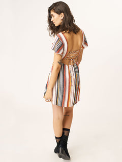 Tropickle Dress In Multi, Back View