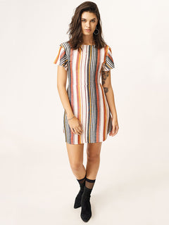 Tropickle Dress In Multi, Front View