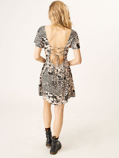 Tropickle Dress In Mushroom, Back View