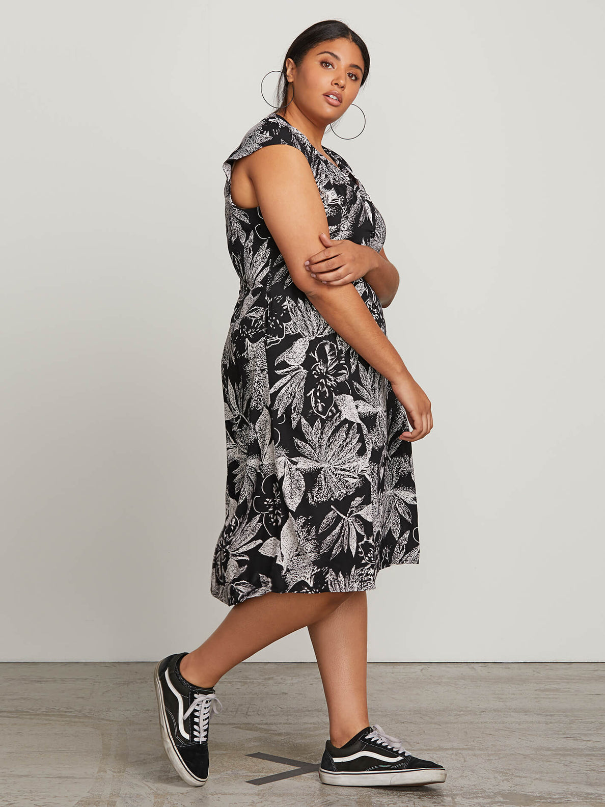 Do Tell Dress In Black Combo, Alternate Plus Size View