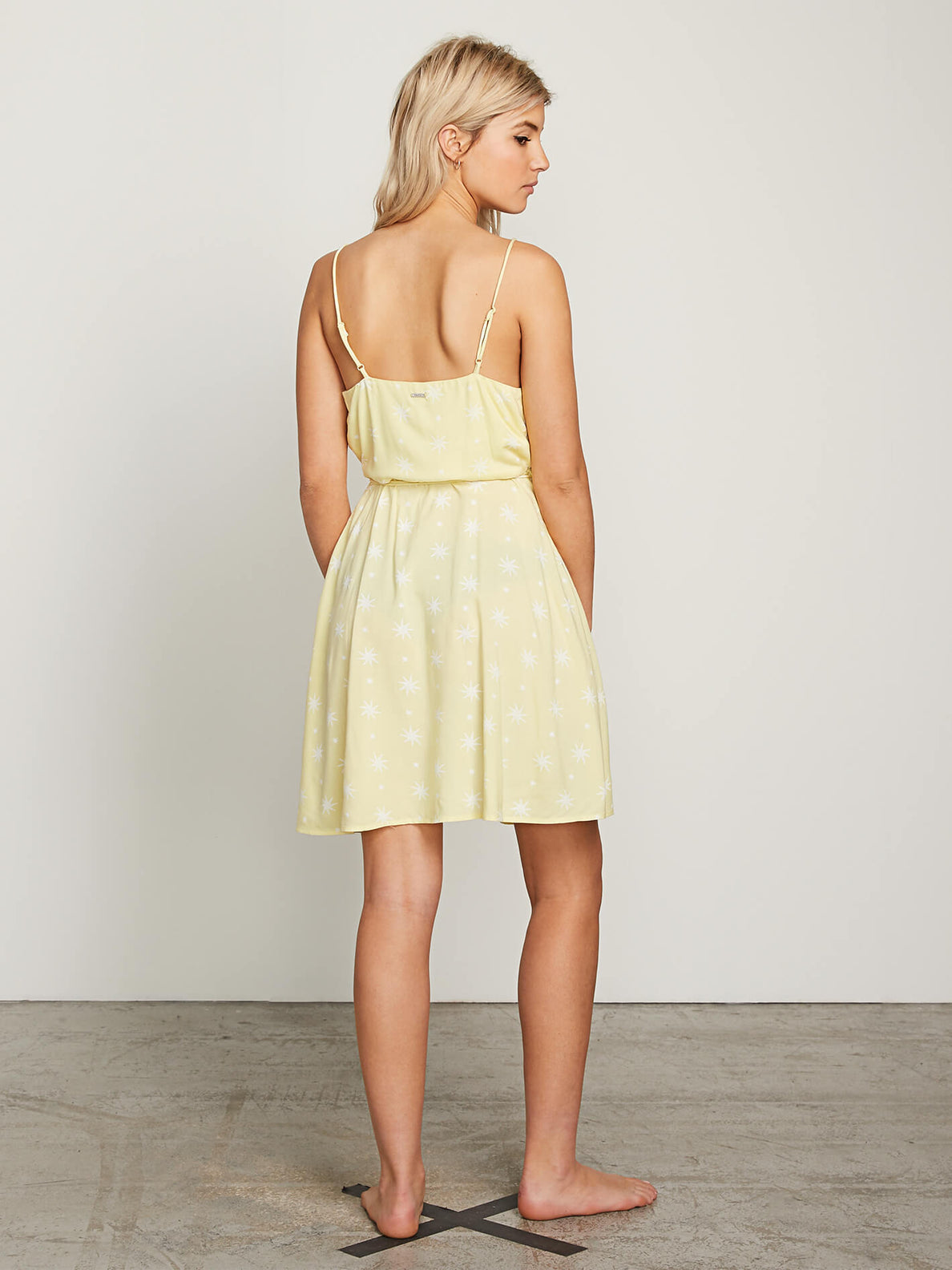 Things Changing Dress In Faded Yellow, Back View