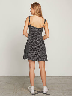 Try The Knot Dress In Black Combo, Back View