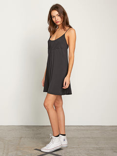 Want My Luv Cami Dress In Black, Alternate View