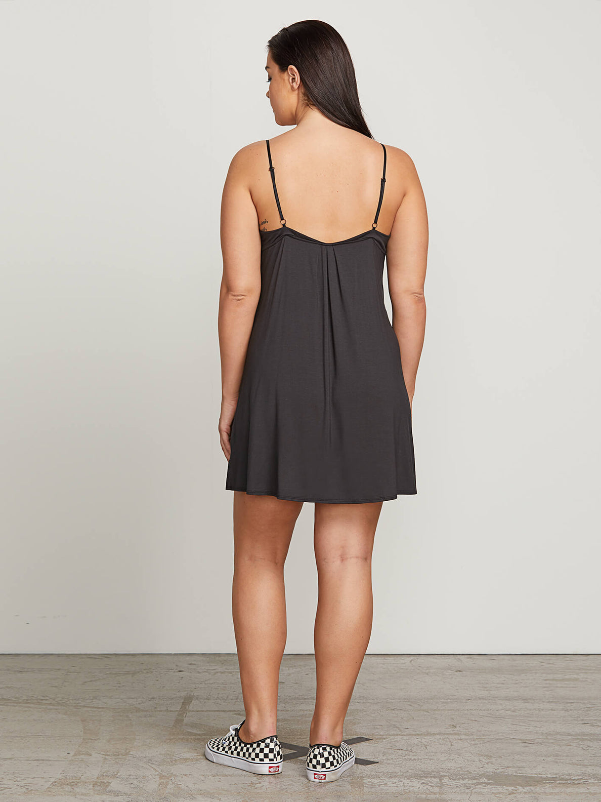 Want My Luv Cami Dress In Black, Back Extended Size View