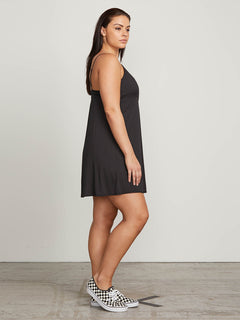 Want My Luv Cami Dress In Black, Alternate Extended Size View