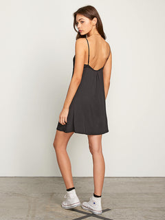 Want My Luv Cami Dress In Black, Back View
