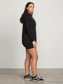 In The Hoodie Dress In Black, Alternate Extended Size View