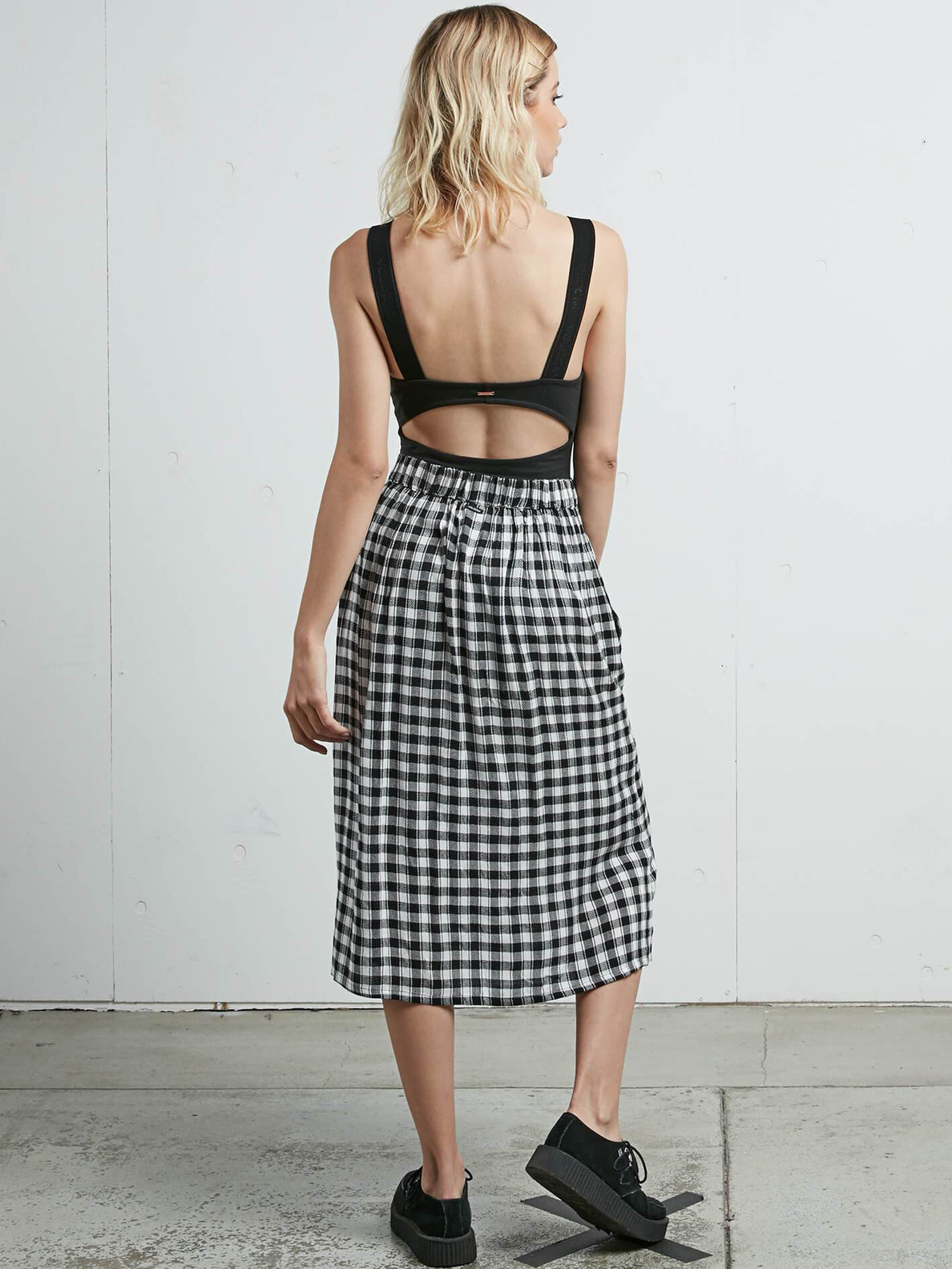 Get To Steppin Skirt In Black, Back View