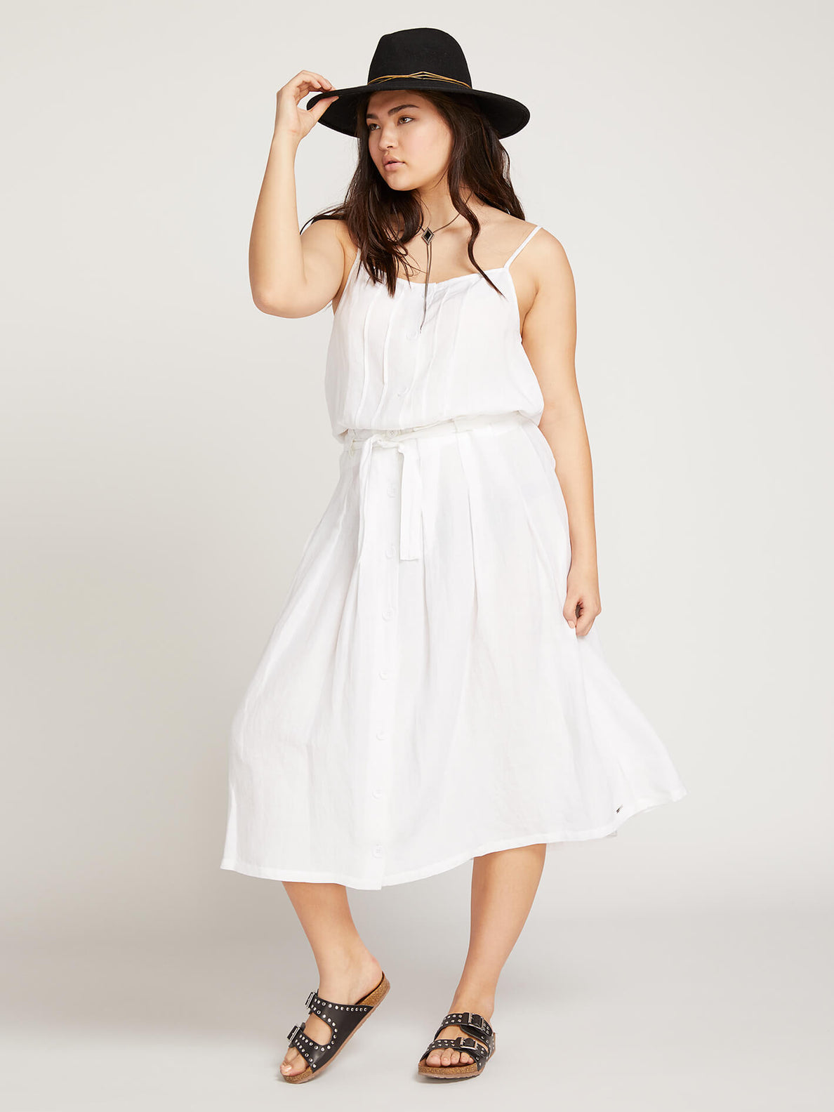 Deep Tracks Skirt In White, Front Extended Size View