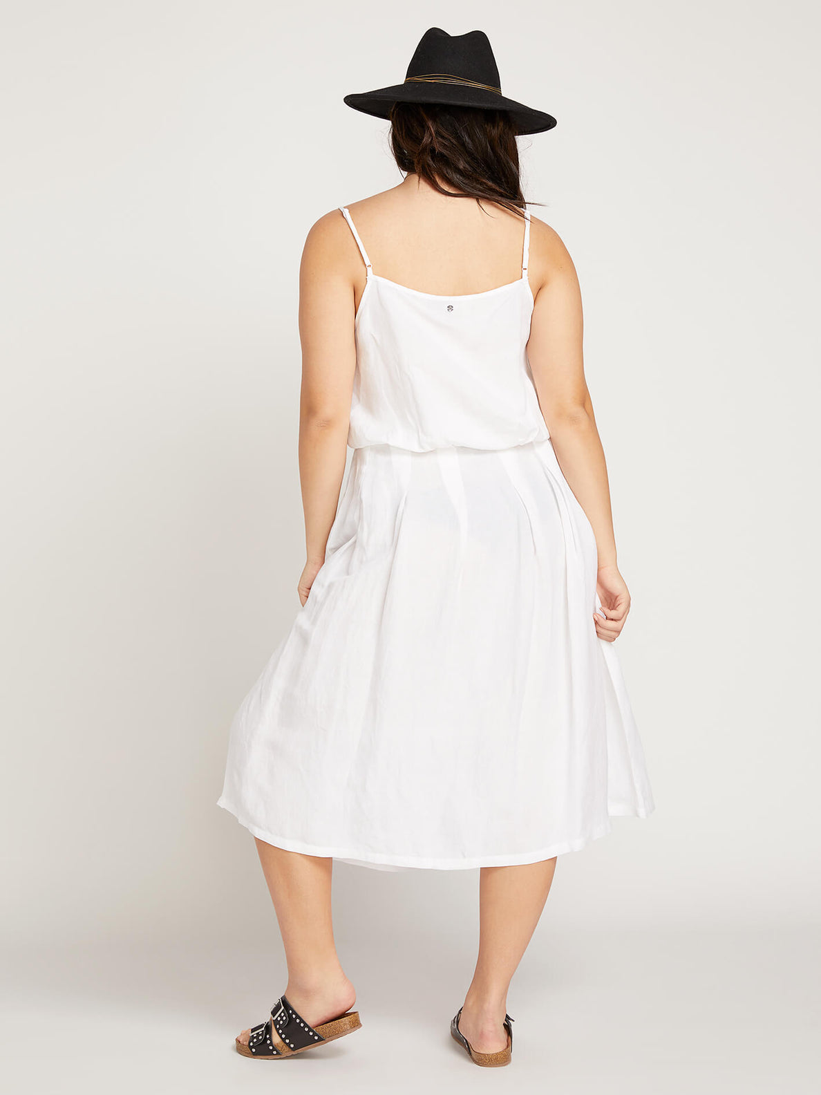 Deep Tracks Skirt In White, Back Extended Size View