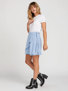April March Skirt In Misty Blue, Alternate View