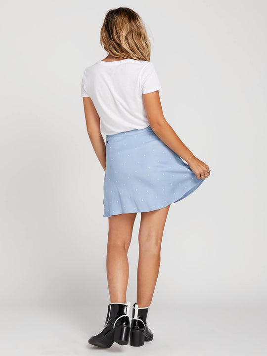 April March Skirt In Misty Blue, Back View