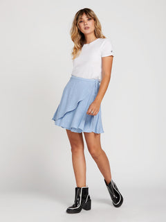 April March Skirt In Misty Blue, Front View