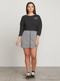 Frochickie Skirt In Black Combo, Front Extended Size View