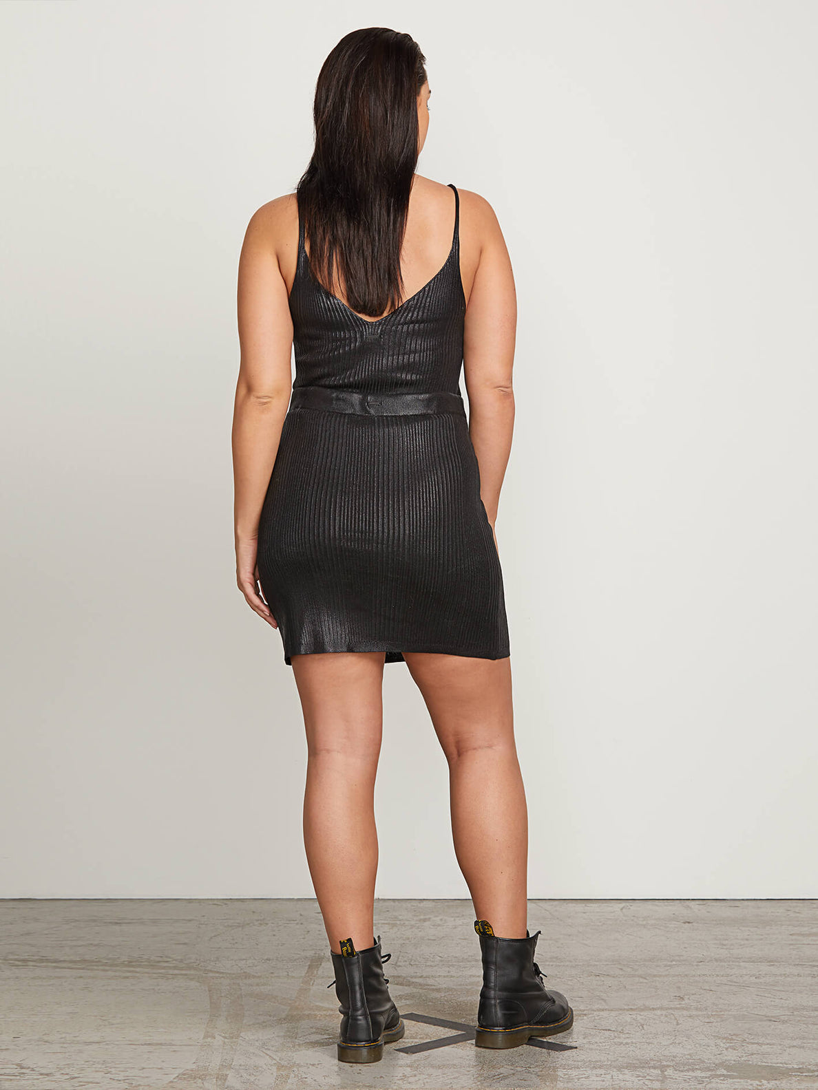 Hey Slick Skirt In Black, Back Extended Size View