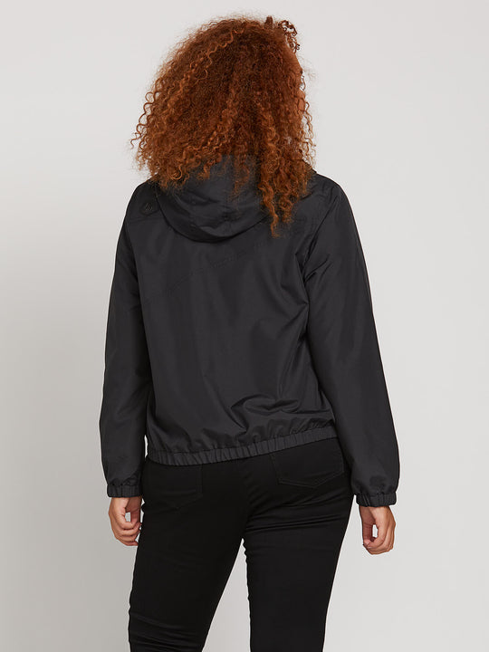 Enemy Stone Jacket In Black, Back Plus Size View