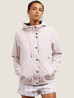 Enemy Stone Jacket In Light Pink, Front View