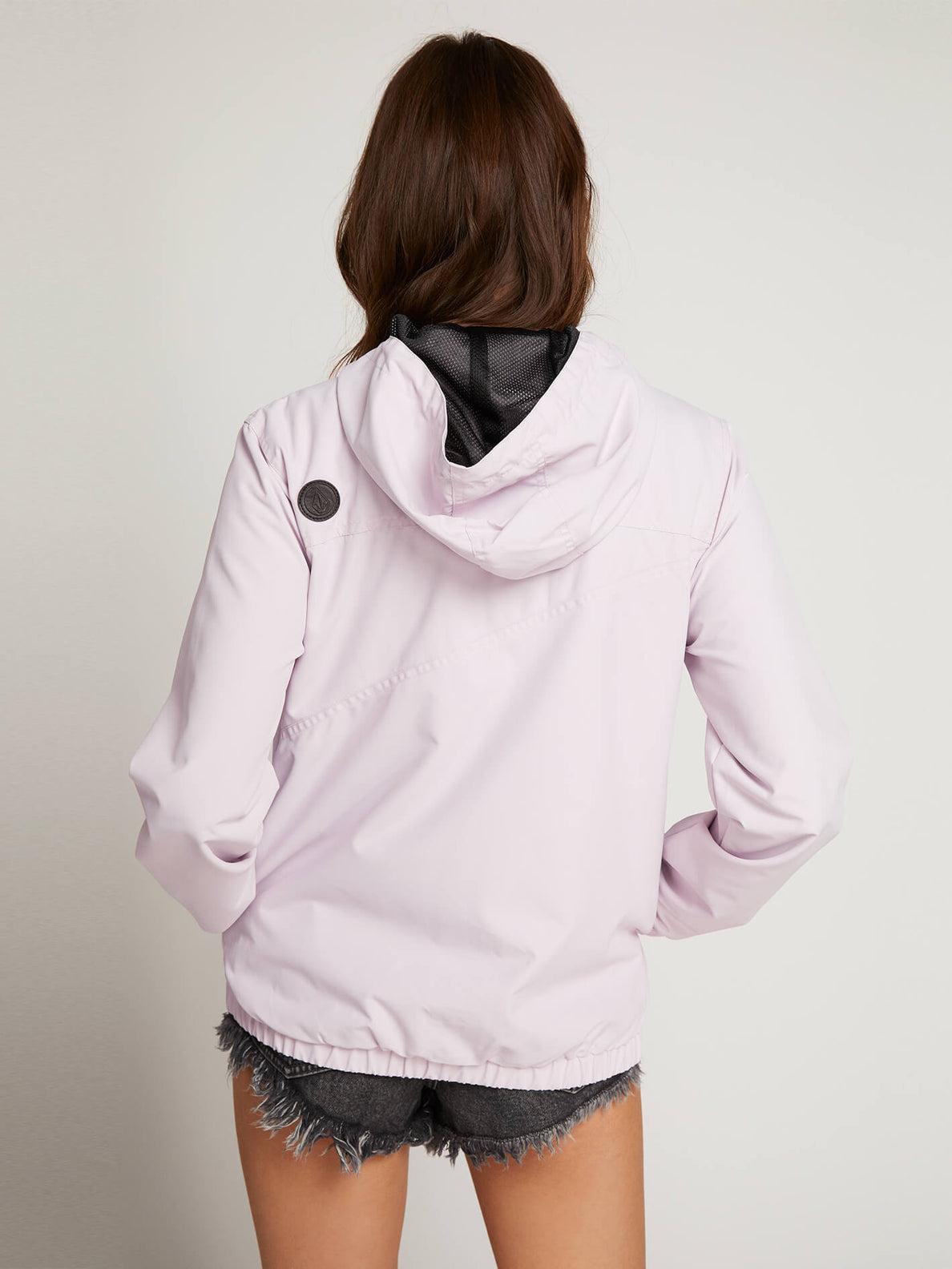 Enemy Stone Jacket In Light Purple, Back View