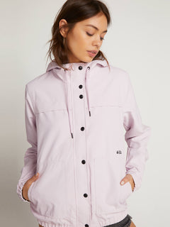 Enemy Stone Jacket In Light Purple, Front View