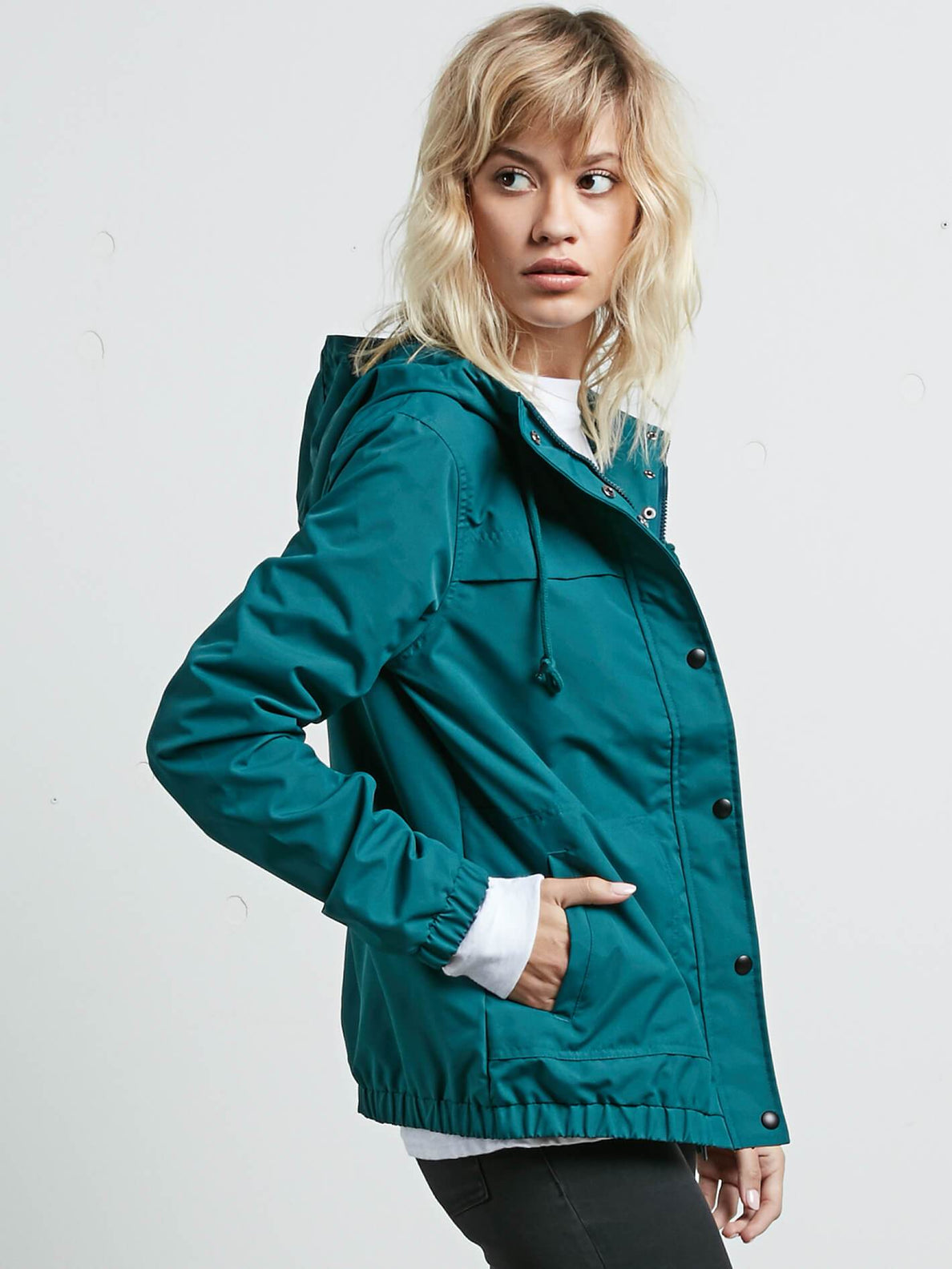 Enemy Stone Jacket In Midnight Green, Alternate View