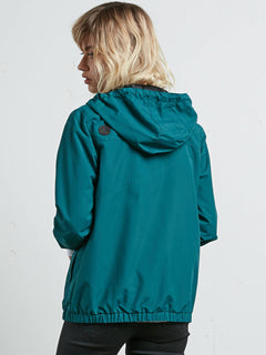 Enemy Stone Jacket In Midnight Green, Back View