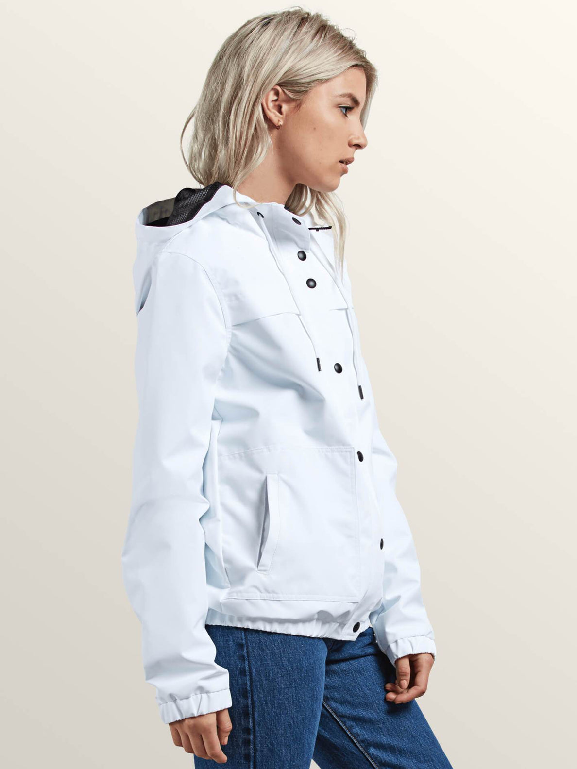 Enemy Stone Jacket In White, Alternate View