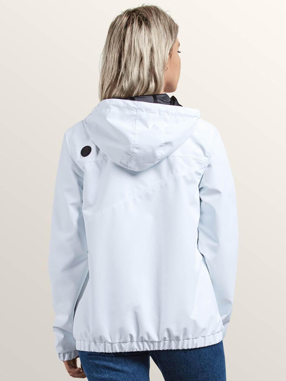 Enemy Stone Jacket In White, Back View