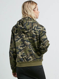 Frochickie Jacket In Dark Camo, Back View