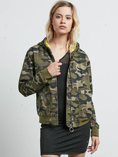 Frochickie Jacket In Dark Camo, Front View
