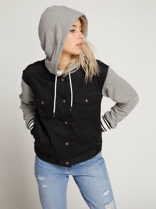 Sea Enemy Jacket In Black, Front View