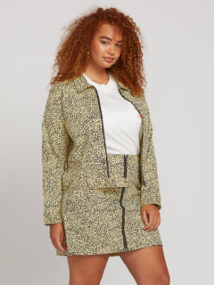 Frochickie Jacket In Leopard, Front Plus Size View