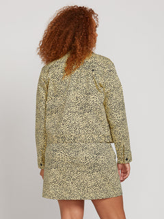 Frochickie Jacket In Leopard, Back Plus Size View