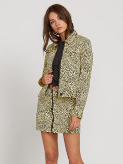 Frochickie Jacket In Leopard, Front View