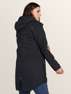 Walk On By Parka In Black, Second Alternate View