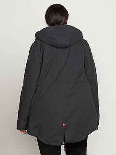 Walk On By Parka In Black, Back Plus Size View