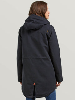 Walk On By Parka In Black, Back View