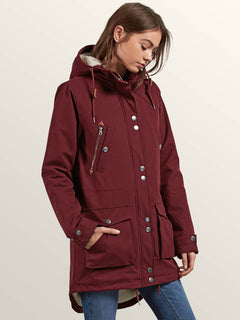 Walk On By Parka In Burgundy, Alternate View