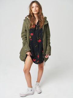 Walk On By Parka In Dark Camo, Second Alternate View