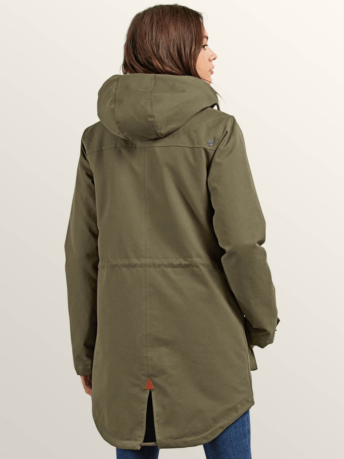 Walk On By Parka In Dark Camo, Back View