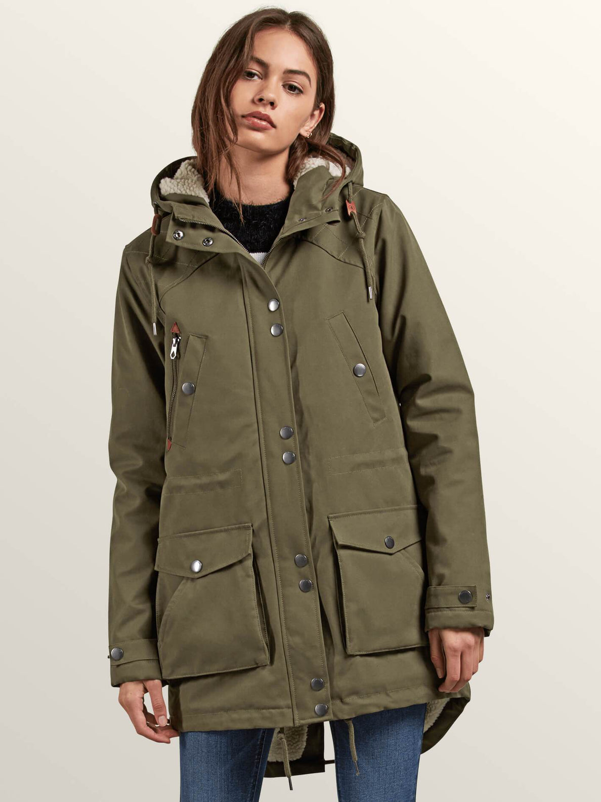 Walk On By Parka In Dark Camo, Front View