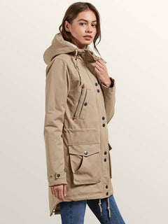 Walk On By Parka In Khaki, Alternate View