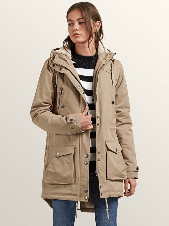 Walk On By Parka In Khaki, Second Alternate View