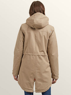 Walk On By Parka In Khaki, Back View