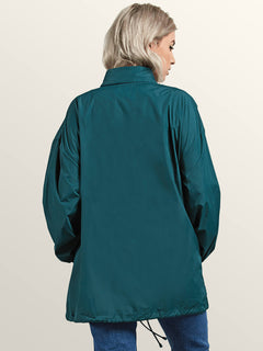 Volstratus Stone Jacket In Evergreen, Back View