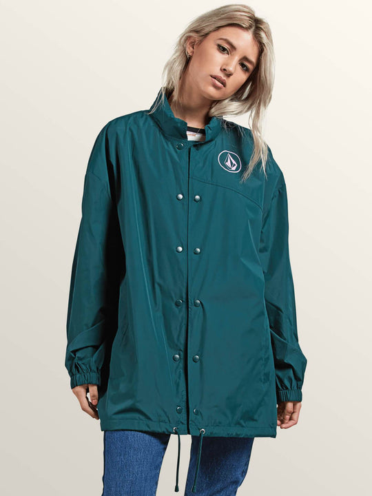 Volstratus Stone Jacket In Evergreen, Front View