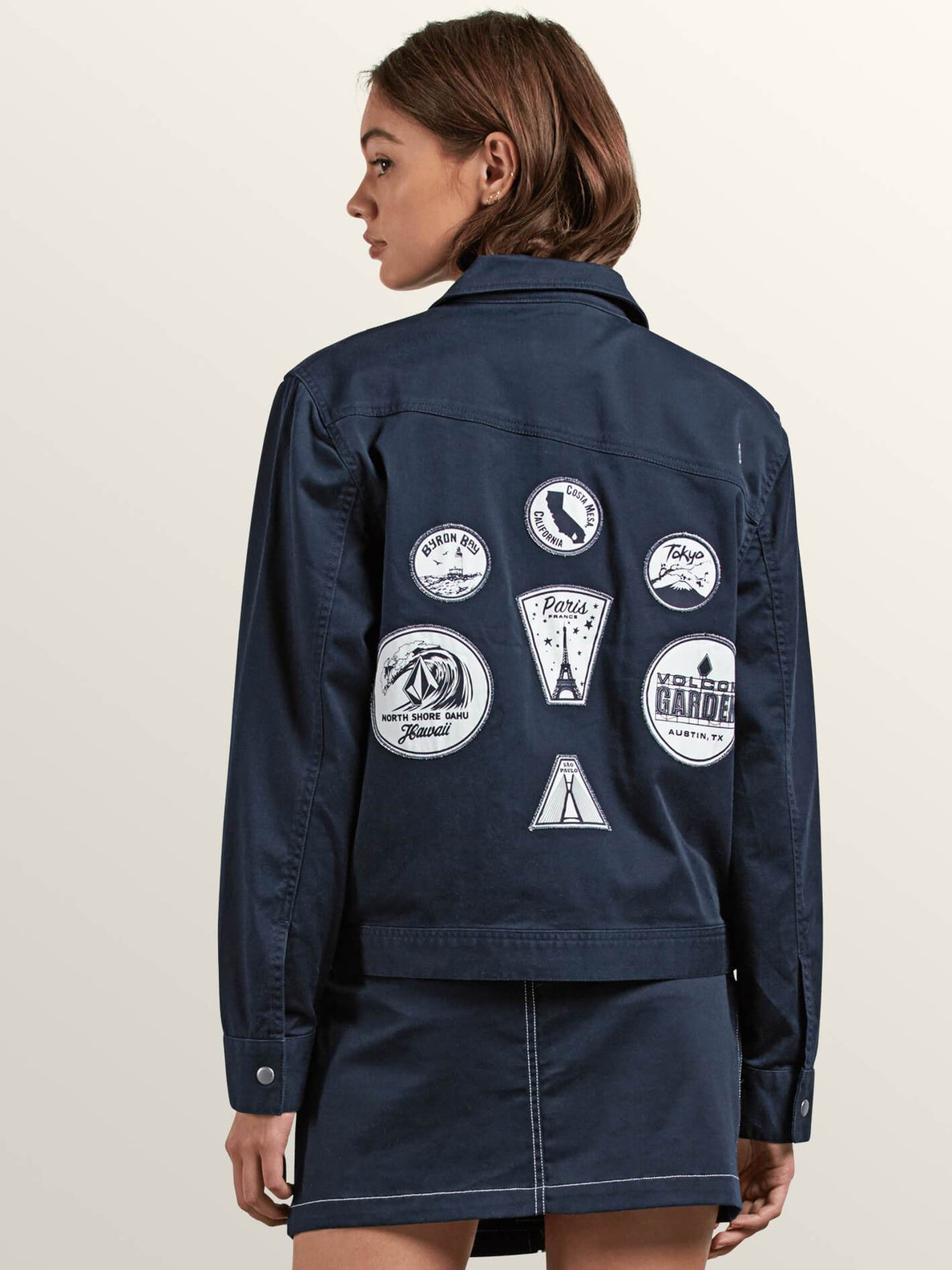Frochickie Jacket In Navy, Back View