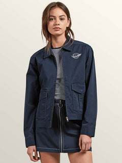 Frochickie Jacket In Navy, Front View