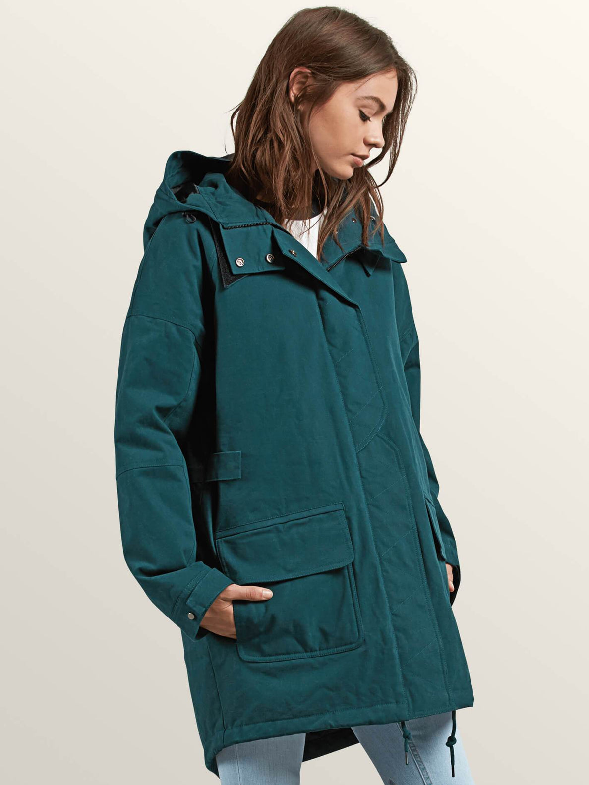 Volcover Parka In Evergreen, Alternate View