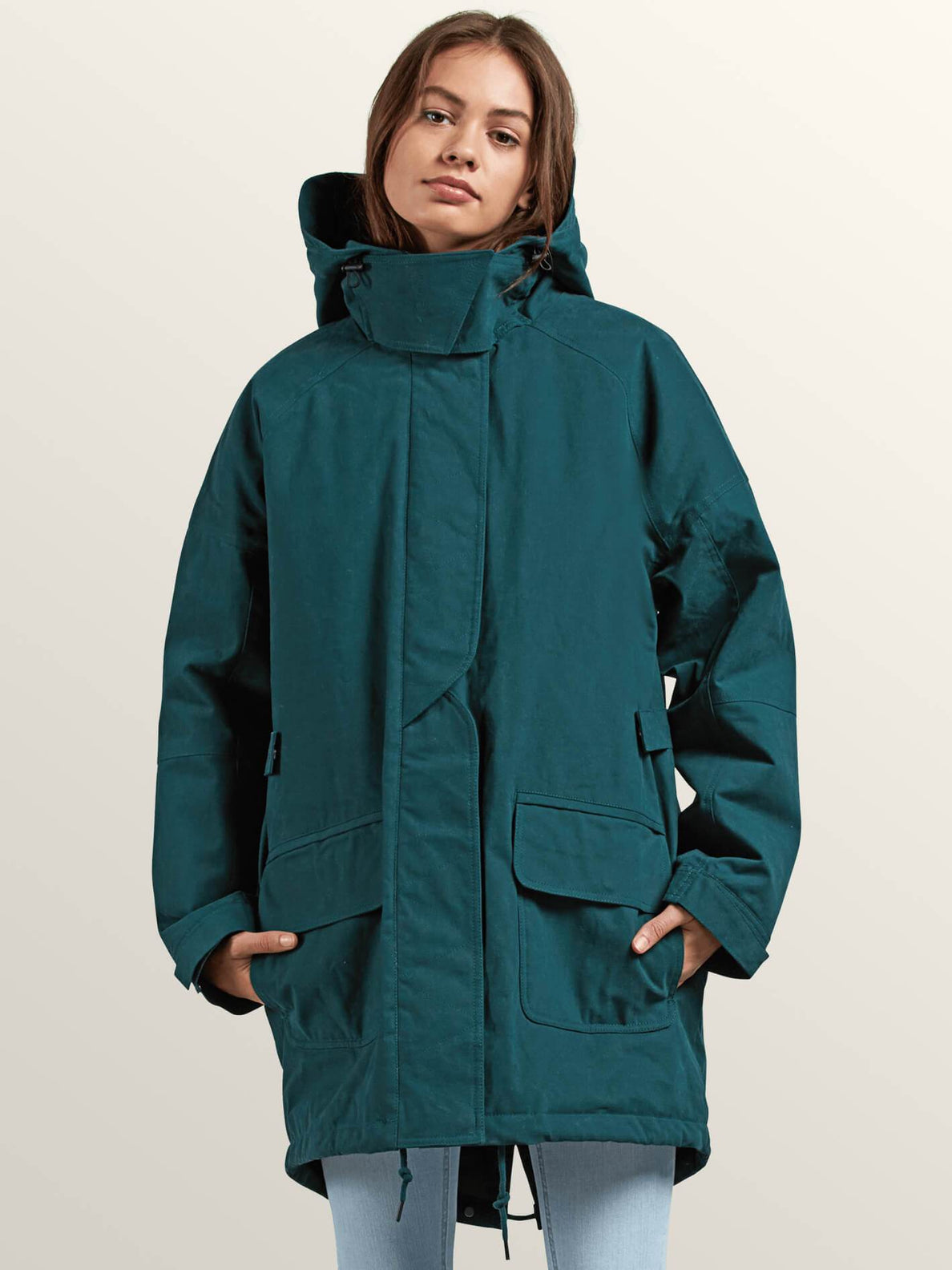 Volcover Parka In Evergreen, Second Alternate View