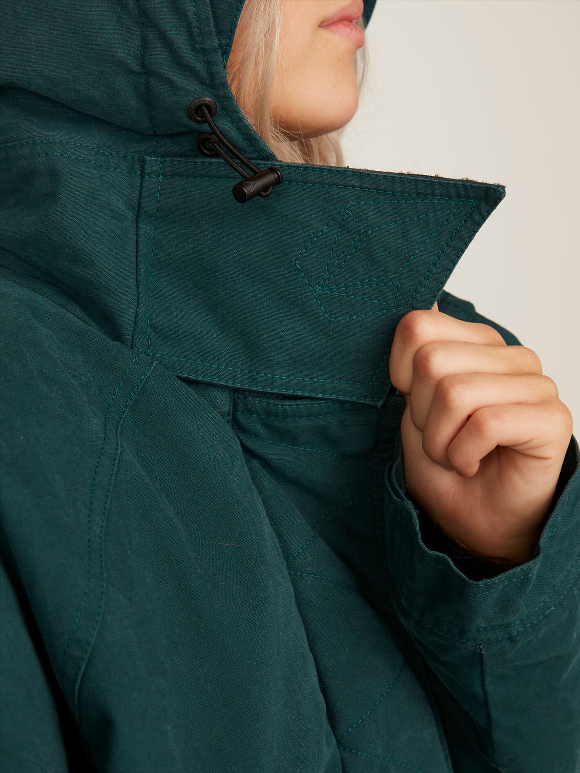 Volcover Parka In Evergreen, Fourth Alternate View